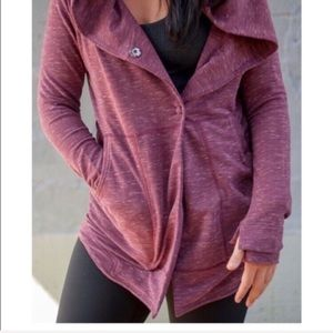 Lululemon Find Your Centre Wrap maroon hoodie